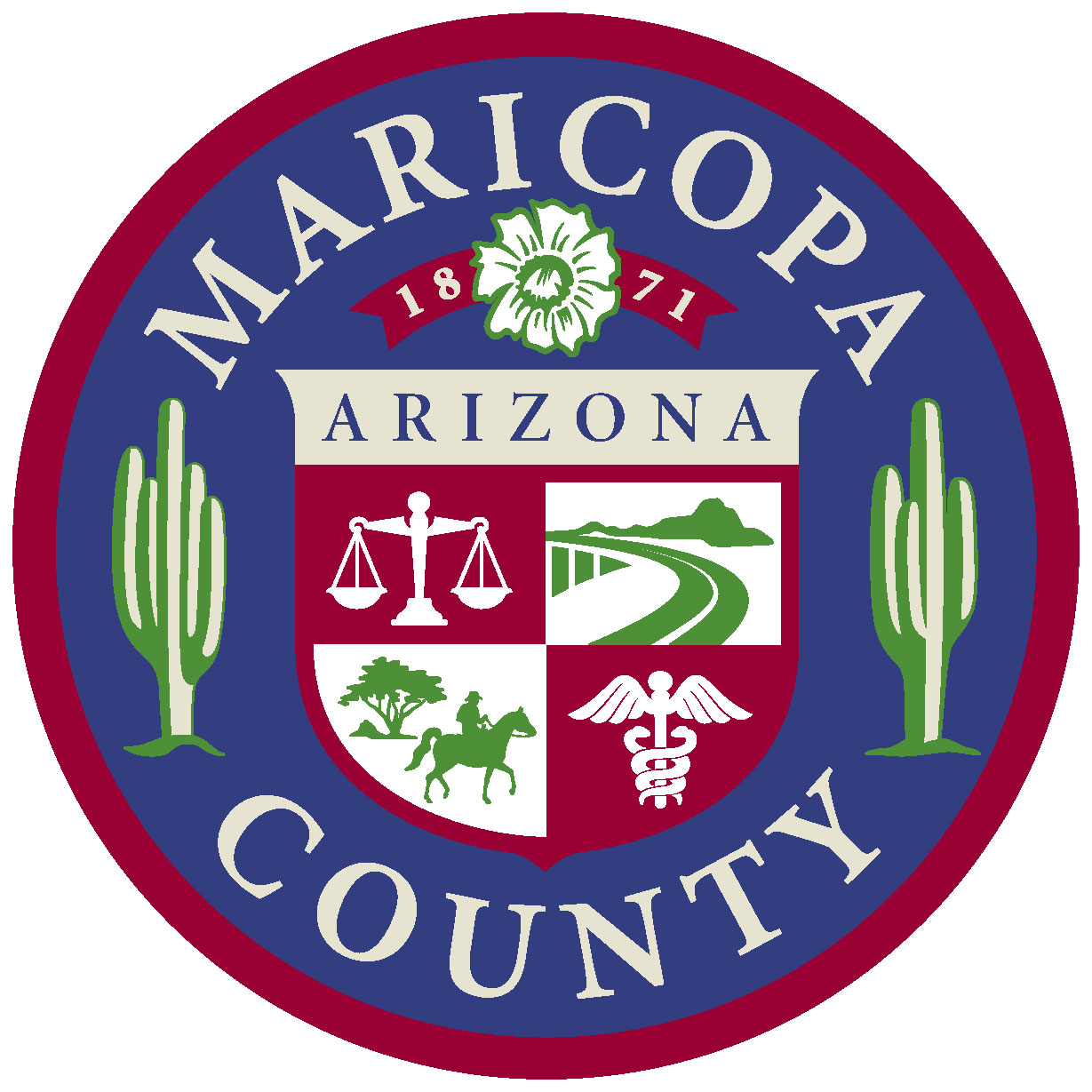 How much does Maricopa County in Arizona spend on education?
